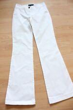 BODEN white bootcut cotton trousers 8L
