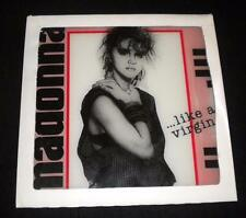 Vtg 80's Madonna Like a Virgin 12x12 Glass Tile Mirror Carnival Fair Wall Decor