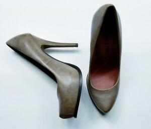 LUXURY REBEL Tan Pumps Heels Leather Sz 38 1/2