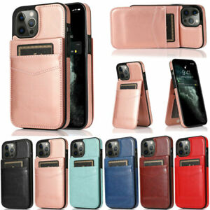 For iPhone 12 11 Pro Max XR XS Max 7 8 Plus  Slim Wallet Leather Flip Cover Case