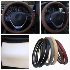 38 cm Dynamic Fiber PU leather Car Steering Wheel Cover Four Seasons Skid-PROOF