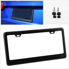 Smooth Real Carbon Fiber Car License Plate Frame Cover For U.S/Canada Vehicles