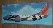SOUTHWEST AIRLINES POSTER PENGUIN ONE SEA WORLD BOEING 737