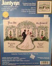 """Janlynn Counted Cross Stitch Kit #54-74 """"From This Day Forward"""" NIP"""