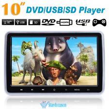 "HDMI In Car Headrest Monitor DVD Player 10"" Digital Screen Game DVD/USB/SD/IR/FM"