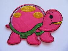 Rosa e Verde Tartaruga ferro su applique pezza