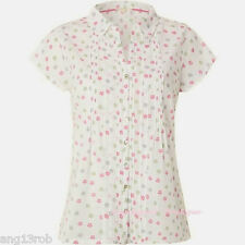 WHITE STUFF SWINGING ELLIE IVORY PINK GREEN FLORAL COTTON BLOUSE TOP SZ 8-18 NEW