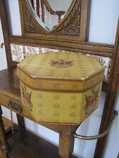 Vintage Knox New York, Ny Octagonal Hat Box & Original Insert Nice Condition
