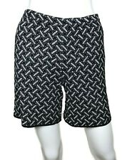 New w/Tags ~$500. St. John Knit Shorts. Size 4. Black & White. Flat Front.
