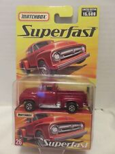 2005 Matchbox Superfast 1956 Ford F-100 Red Limited Edition