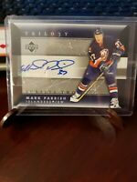 2005-06 Upper Deck Trilogy Scripts #SCS-MP Mark Parrish New York Islanders Auto