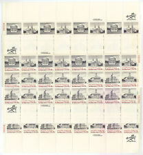 More details for usa-united states 1979 15c postage architecture 4 sheets scot 1779