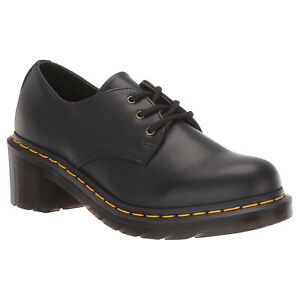 Dr. Martens Womens Shoes Amory Casual Lace-Up Goodyear-Welt Heeled Leather