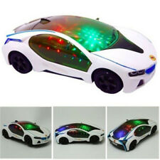 Children 3D LED Flashing Light Car Toy Music Sound Electric Toy Cars Xmas Gift