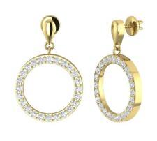Dangle Chandelier Earrings 1.50Ct Natural Diamond 14Kt Gold Prong Set 1.00 Inch