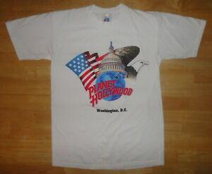 Vintage 1991 PLANET HOLLYWOOD WASHINGTON D.C. Single Stitch Shirt Small Made USA