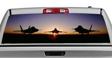 Truck Rear Window Decal Graphic [Aircraft / Raptor Dawn] 20x65in DC58202