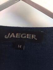 Jaeger Linen Dress Uk 14 Navy