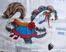 Carousel Horse Soft Sculpture Cotton Fabric Panel VIP Cranston Applique