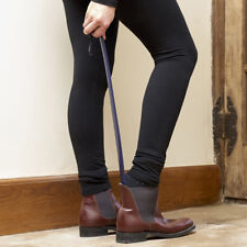 Long shoe horn easy on easy off dressing aid in navy by Blue Badge Co