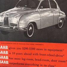 Vintage 1960 Saab 96 Car Magazine ad