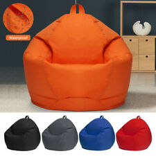 Waterproof Bean Bag Chair Cover Stuffed Toy Storage Oxford Beanbag Sofa Cover