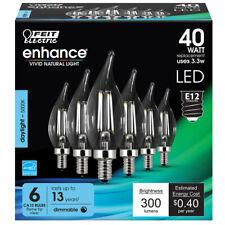 Feit Electric Cfc40950Cafil6 Enhance Ca10 Filament Led Bulb, 3.3 W