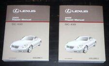 2009 Lexus SC 430 Repair Manuals Volumes 1-2 SC430 OEM NEW