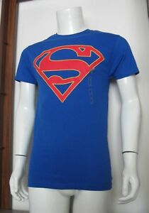 S Men BioWorld Superman DC Comics Short Sleeve Crewneck T-Shirt Blue Red S NWT