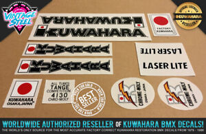 Kuwahara LASERLITE BMX Decal Set (83-85 Black) Official License Product! Factory