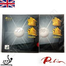 2 x Palio Hadou 40+ Table Tennis Rubbers with sponge ITTF approved Pips in UK