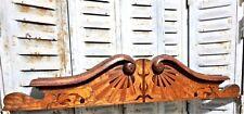 Art nouveau marquetry ecole de Nancy pediment Antique french salvaged furniture