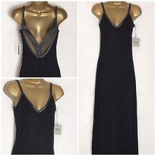 Asos Black Stretch Jersey Strappy Maxi Dress 6 - 18  (as-2w)