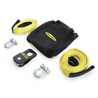 Smittybilt 2729 ATV Winch Accessory Kit Shackles/Tow Straps/Snatch Block/Bag