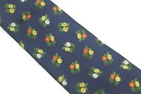 GAP Premium Authentic Neckwear 100% Silk Made in Italy Multi Color Floral Tie