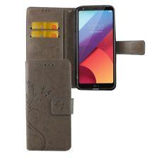 Cases Flowers for Mobile Phone LG G6 Grey Wallet Cover Case Cases Bumper Frame