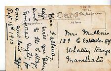 Genealogy Postcard - Family History - Mulliner - Whalley Range Manchester  U2593