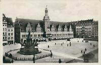 Ansichtskarte Leipzig Markt mit Altem Rathaus und Siegesdenkmal (Nr.766)