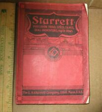 Vtg 1938 Starrett Tool Company Catalog #26 288 Pages Excellent Condition
