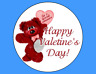 Valentines Day Love cupcake toppers x 12 edible image icing EXPRESS POST