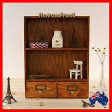 Timber Wall Shelf Mounted Display Cabinet Unit Wooden Cupboard Chest Storage A50