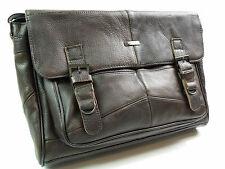 Mens Womans Messenger Man Bag Over Shoulder Bag Real Brown Leather Satchel