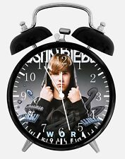 "Justion Bieber Alarm Desk Clock 3.75"" Home or Office Decor Y81 Nice For Gift"