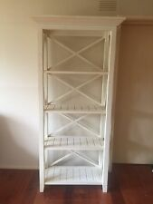 Book Shelf White Timber Early Settler  Shabby Chic French Provincial Country