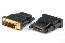 Adapter DVI HDMI 24+1 Stecker auf Buchse HDMI HighSpeed with Ethernet 1080P 3D