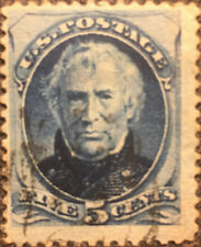Scott #185 US 1879 5 Cents Taylor Bank Note STamp