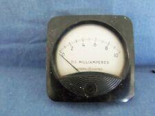 Vintage Ge Panel Mount 0 10 Dc Millamperes Meter Industrial Gauge Steampunk