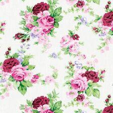 """ambiente Servilletas """"ANTONIETA"""" Blanco con rosas en rojo y rosa, FLORES"""