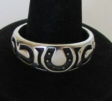 Native American Navajo Cast Horseshoe Ring size 10.5 Old Bell Trading Post