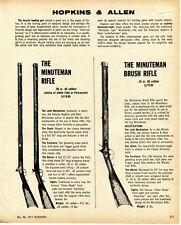 1975 Print Ad of Hopkins & Allen The Minuteman Bush Rifle Muzzle Loader